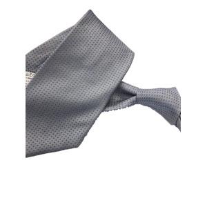 ネクタイ 水玉シリーズ 日本製シルク100% グレー×スカイブルー