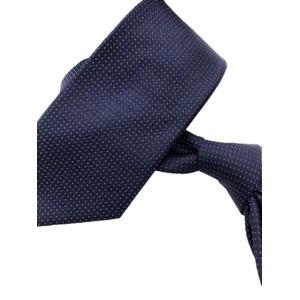 ネクタイ 水玉シリーズ 日本製シルク100% ネイビー×ブルー