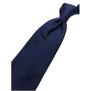 ネクタイ 水玉シリーズ 日本製シルク100% ネイビー×ブルー 小