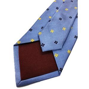 ネクタイ 小紋シリーズ 日本製シルク100% スカイブルー