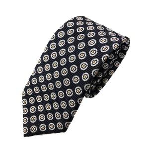ネクタイ 小紋シリーズ 日本製シルク100% ブラック