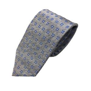 ネクタイ 小紋シリーズ 日本製シルク100% ライトグレー