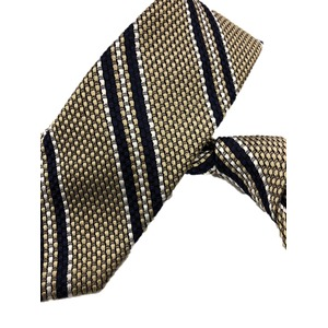 ネクタイ 希少織りストライプシリーズ 日本製シルク100% シャンパンゴールド