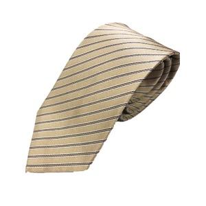 ネクタイ 織りストライプシリーズ 日本製シルク100% ブラウン系