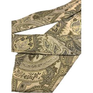 グランネクタイ 西陣手縫いネクタイ 希少生地シリーズ ペイズリー ブラウン