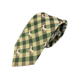 グランネクタイ 西陣手縫いネクタイ 希少生地シリーズ クレストチェック 馬