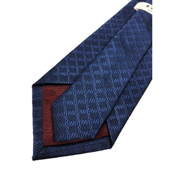 ネクタイ 小柄シリーズ 日本製シルク100% ネイビー