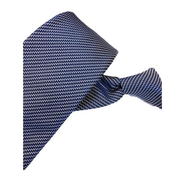 ネクタイ 小柄シリーズ 日本製シルク100% ブルー