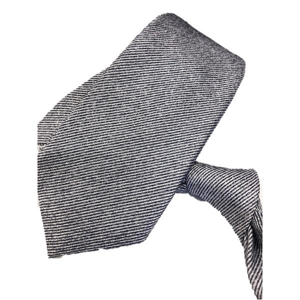 ネクタイ 無地シリーズ 日本製シルク100% ゼブラ