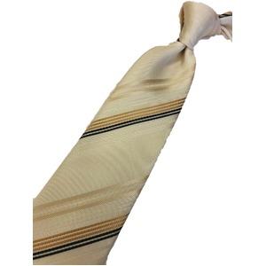 織りストライプシリーズ 日本製シルク100% クリーム