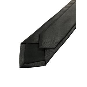 スマートタイ 無地コレクション日本製シルク100%ネクタイ サテンブラック無地