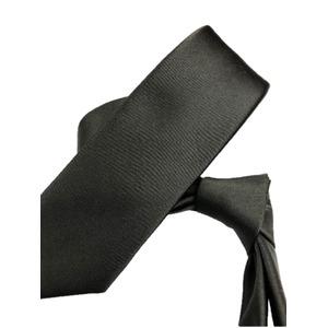 スマートタイ 無地コレクション日本製シルク100%ネクタイ サテンチャコールグレー無地
