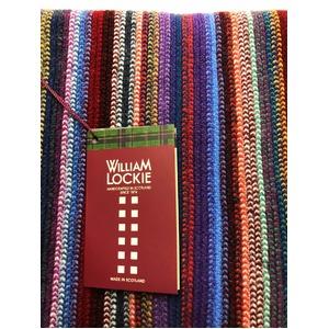 英国製 100%NEW LAMBSWOOL WILLIAM LOCKIE ウィリアムロッキー ストライプマフラー マルチカラー