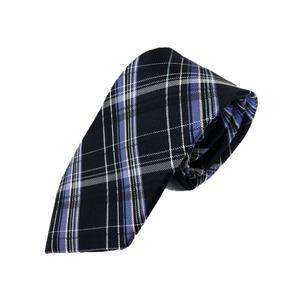 秋冬チェックコレクション 肉厚ネクタイ ブラック&ネイビー