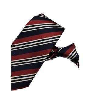 厳選ワンランク上のネクタイ 織柄レジメンタルシリーズ シルク100% レッド