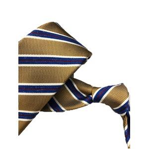 厳選ワンランク上のネクタイ 織柄レジメンタルシリーズ シルク100%  キャメル