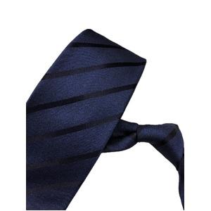 織柄レジメンタルシリーズ シルク100% ネイビー