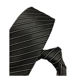 織柄レジメンタルシリーズ シルク100% 凹凸ブラック&ホワイト