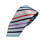 厳選ワンランク上のネクタイ 織柄レジメンタルシリーズ シルク100% マルチカラー