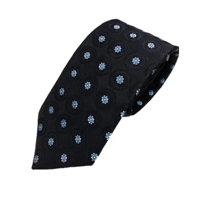 厳選ワンランク上のネクタイ 織大柄シリーズ シルク100% ダークネイビー