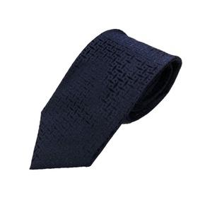無地・織柄シリーズ シルク100% ダークネイビー 光沢織り柄