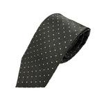 厳選ワンランク上のネクタイ 定番水玉コレクション チャコールグレー 大剣幅約8.0cm