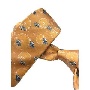 希少生地シリーズ シルク100% オレンジ カー 車 大剣幅約8.0cm