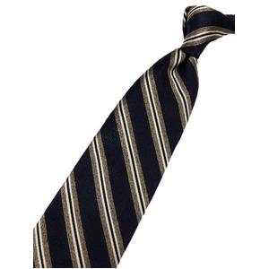 厳選ワンランク上のネクタイ トラッドレジメンタルシリーズ シルク100% ネイビー 織MIX 大剣幅約8.0cm