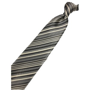 トラッドレジメンタルシリーズ シルク100% シルバー 大剣幅約8.0cm