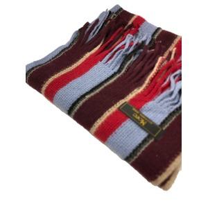 おすすめ 機屋直仕入れ 日本製カシミヤ100% 織マフラー マルチストライプマフラー 3