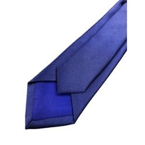 スマートタイ 無地・サテンシリーズ シルク100% ブルーパープル 大剣幅約6.5cm