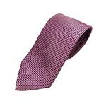 高品質シルクネクタイ 人気 小柄 ピンク&ネイビー 手縫い・ミシンステッチ・共裏仕様
