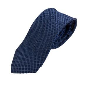 イタリアファクトリーネクタイシルク100%小柄ブルー