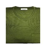 人気 イタリア製ファクトリー コットンTシャツ 抹茶 グリーン Mサイズ