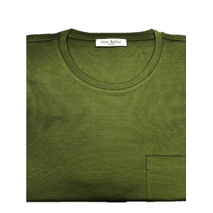 人気 イタリア製ファクトリー コットンTシャツ 抹茶 グリーン Lサイズ