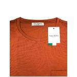 イタリア製ファクトリー コットンTシャツ ダークオレンジ Lサイズ