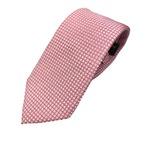おすすめ 手縫い シルク100%ネクタイ ピンク/小柄