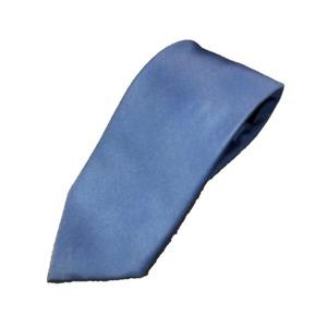 手縫い シルク100%ネクタイ 無地織り サテン マリンブルー