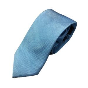 シルク100%ネクタイ 無地織り クリアブルー