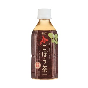 サーフビバレッジごぼう茶350ml×24本(1ケース)ペットボトル【北海道ごぼう100%使用】