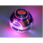 手首専門 トレーニング器具 「パワーボール NSD Power Spinner スピナー」 LEDライト3色変化&カウンター付 パープル 上級者用 上達用 日本正規品