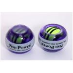 手首専門 トレーニング器具 「パワーボール NSD Power Spinner スピナー」 LEDライト3色変化&オートスタート パープル 上級者用 上達用 日本正規品