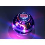 手首専門 トレーニング器具 「パワーボール NSD Power Spinner スピナー」 LEDライト3色変化&カウンター付&オートスタート搭載 パープル 上級者用 上達用 日本正規品