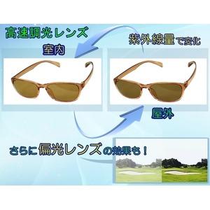 【調光偏光サングラス】 空気のように軽いエアリーフレーム ブラックver 福井県鯖江産レンズ Transhade使用 ケース進呈 f04