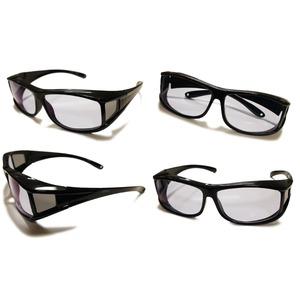 ネオコントラストカバー 特許 角型 サングラス 国産レンズ 高品質 ブラック レディース メンズ 兼用画像4