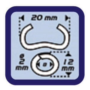 ベビーグラフ/フェンス補強用リング留め工具 【軽量242g】 オメガ16・20リング対応 〔プロ用 DIY 日曜大工 趣味〕