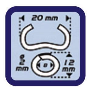 ベビーグラフ用替刃リングセット/フェンス工具 【オメガ20】 ガルバ綱 直径2mm 内径8mm 1000個入り
