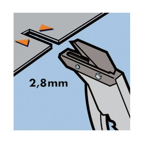 屋根材カッター/作業工具 【マットコップ】 ブレード35mm 最大切断厚7mm 〔プロ用 DIY 日曜大工 趣味〕