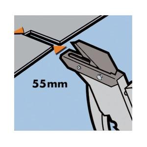 屋根材カッター/作業工具 【マット2】 ブレード55mm 最大切断厚7mm 〔プロ用 DIY 日曜大工 趣味〕