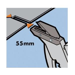 屋根材カッター/作業工具 【マットコップ2】 ブレード55mm 最大切断厚7mm 〔プロ用 DIY 日曜大工 趣味〕